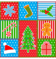christmas patchwork background vector image