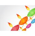 colorful diwali diya vector image vector image