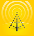 construction of a transmitter on a yellow vector image