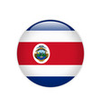 costa rica flag on button vector image vector image