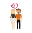 couple in love hearts relationship vector image vector image