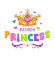 cute girlish vector image vector image