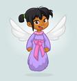 cute happy girl arab or indian girl angel characte vector image