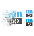 dissolved pixelated halftone drugstore icon vector image vector image