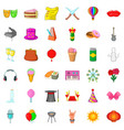 donut icons set cartoon style vector image vector image