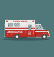 flat ambulance vehicle vector image vector image