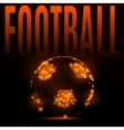 football fire ball vector image vector image