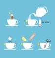 graphic information about preparation lemon tea vector image vector image