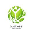 green circle logo concept vector image vector image