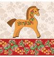 Greetings card with horse vector image