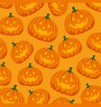 halloween card with pumpkin pattern background vector image vector image