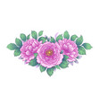 hand drawn floral bunch with pink peony vector image vector image