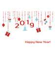 happe new year 2019 greeting card vector image
