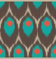 ikat seamless pattern vector image vector image