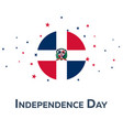 independence day of dominican republic patriotic vector image vector image