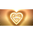infinite heart-shaped tunnel of vector image vector image