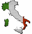 italy map with flag inside vector image vector image