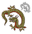 japanese dragon tattoo design or religion mascot vector image vector image