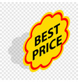 label best price isometric icon vector image vector image