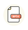 m4a file format extension color line icon vector image