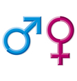 Male and female gender symbols vector image