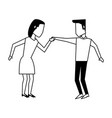 man and woman avatar dancing icon image vector image