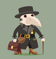 medieval plague doctor character cartoon design vector image vector image