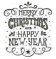 Merry Christmas and Happy New Year Conceptual vector image vector image