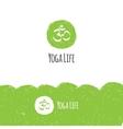 minimalistic yoga logotype in trendy hand vector image