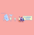 parents and son standing together family planning vector image vector image