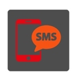 Phone SMS Rounded Square Button vector image
