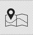 pin on the map icon map gps vector image