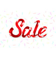 red metal lettering sale price offer deal labels vector image