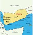 Republic of Yemen - map vector image