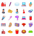 screen icons set cartoon style vector image vector image
