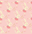 seamless pattern bunny ballerina with tutu vector image