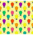 seamless pattern with light bulb in flat style vector image vector image
