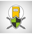 security system data folder file vector image vector image