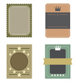 Set of Blank Vintage Retro Rectangle Badge vector image