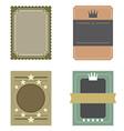 Set of Blank Vintage Retro Rectangle Badge vector image