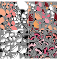 Set of four floral seamless vector image