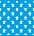 shirt polo pattern seamless blue vector image vector image