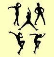 silhouette of male dancer 01 vector image vector image