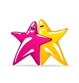 Smiling glossy stars vector image