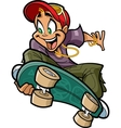 Smiling Teen On Skateboard vector image vector image