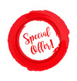 special offer grunge style red colored on white vector image vector image