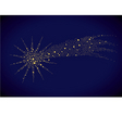 starry falling star vector image vector image