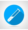 Test tube flat round icon vector image