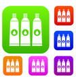 Three tubes with paint set collection vector image