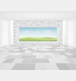 tile floor background vector image